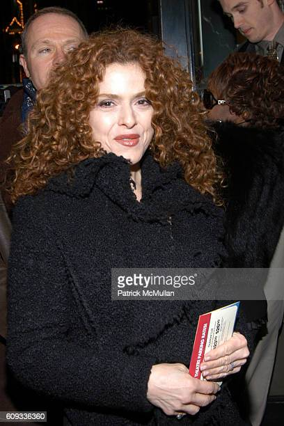 Bernadette Peters attends TALK RADIO Opening Night Performance AfterParty at Longacre Theatre Bar American on March 11 2007 in New York City