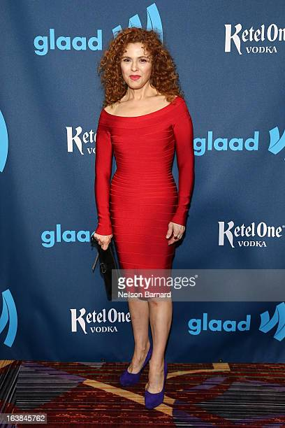 Bernadette Peters attends the Ketel One VIP Red Carpet Suite at the 24th Annual GLAAD Media Awards at the Marriott Marquis on March 16 2013 in New...