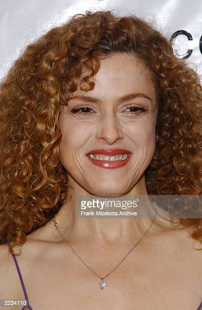 Bernadette Peters backstage before 'Springtime for Mel Brooks Musical Moments from His Movies' presented by the Film Society of Lincoln Center at...