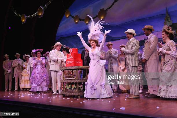 Bernadette Peters Celebrates Her Birthday On Stage At Broadway's HELLO DOLLY on February 28 2018 in New York City