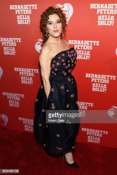 Bernadette Peters celebrates her opening night of 'Hello Dolly' on Broadway at Sardi's Restaurant on February 22 2018 in New York