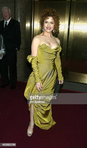 Bernadette Peters during 56th Annual Tony Awards Arrivals at Radio City Music Hall in New York City New York United States