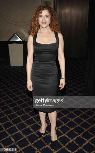 Bernadette Peters during Broadway's Celebrity Benefit for Hurricane Relief Backstage at The Gershwin Theatre in New York City New York United States