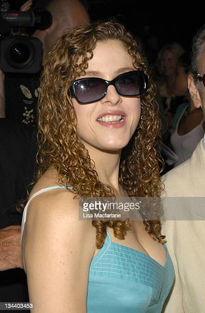 Bernadette Peters during Olympus Fashion Week Spring 2006 Bill Blass Front Row at Bryant Park in New York City New York United States