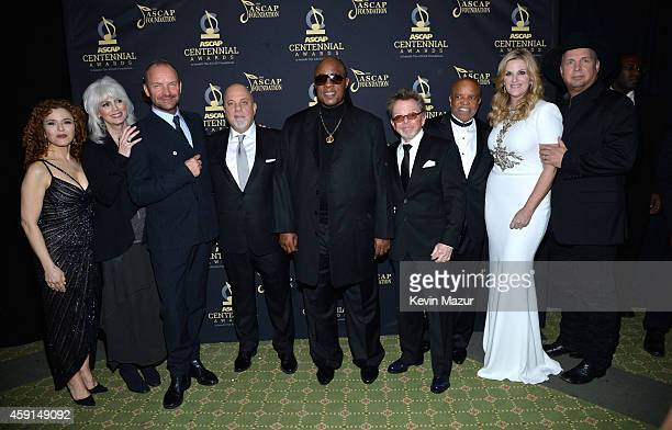 Bernadette Peters Emmylou Harris Sting Billy Joel Stevie Wonder President and Chairman of ASCAP Paul Williams Berry Gordy Trisha Yearwood and Gath...