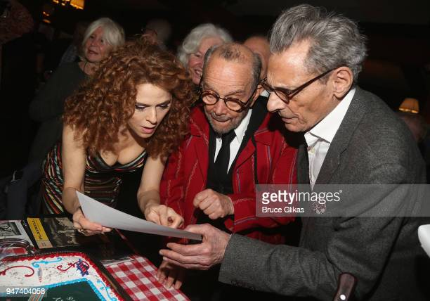 Bernadette Peters Joel Grey and cast chat at the 50th Anniversary Reunion of the cast of the legendary Broadway Musical George M at Sardis on April...