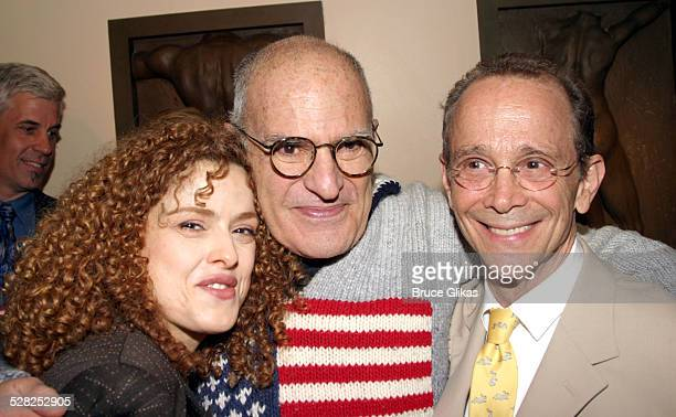 Bernadette Peters Larry Kramer and Joel Grey during Joel Grey's 72nd Birthday Party at Michael's at Michael's in New York City New York United States