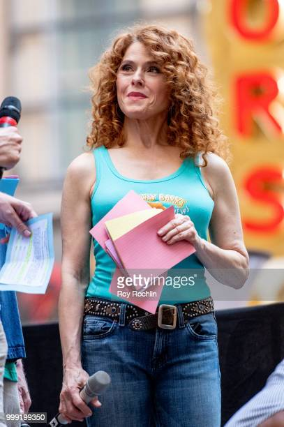 Bernadette Peters on stage during the 2018 Broadway Barks at Shubert Alley on July 14 2018 in New York City