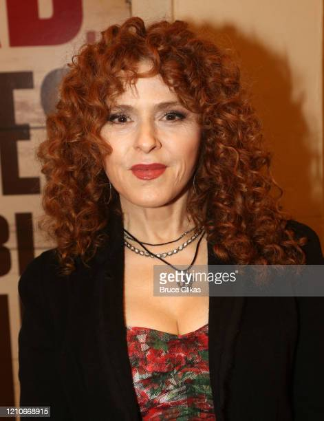 """Bernadette Peters poses at the opening night of the new Bob Dylan Musical """"Girl From The North Country"""" on Broadway at The Belasco Theatre on March..."""