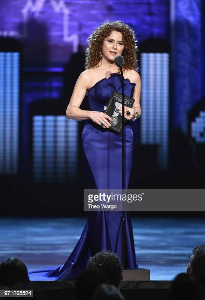 Bernadette Peters presents an award onstage during the 72nd Annual Tony Awards at Radio City Music Hall on June 10 2018 in New York City