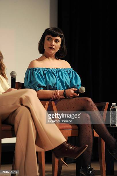 Bernadette Peters speaks at The SAGAGTRA Foundation's Conversations Series Presents 'Mozart In The Jungle' at The New School on December 9 2015 in...