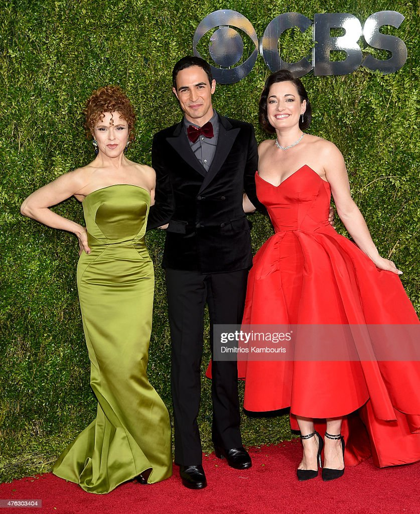 Bernadette Peters, Zac Posen, and Laura Michelle Kelly attend the 2015 Tony Awards at Radio City Music Hall on June 7, 2015 in New York City.