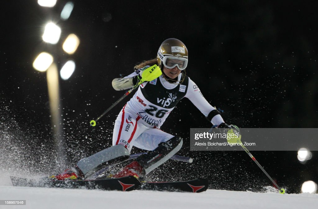Bernadette Schild of Austria competes during the Audi FIS Alpine Ski World Cup Women's Slalom on January 4, 2013 in Zagreb, Croatia.