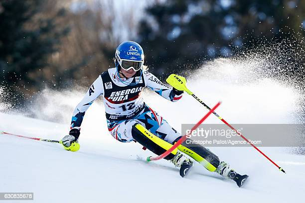 Bernadette Schild of Austria competes during the Audi FIS Alpine Ski World Cup Women's Slalom on January 03 2017 in Zagreb Croatia