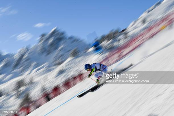 Bernadette Schild of Austria competes during the Audi FIS Alpine Ski World Cup Women's Giant Slalom on December 19 2017 in Courchevel France