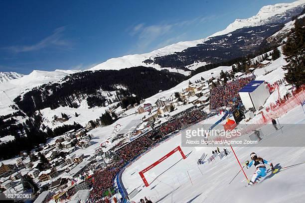 Bernadette Schild of Austria takes 2nd place during the Audi FIS Alpine Ski World Cup Women's Slalom on March 16 2013 in Lenzerheide Switzerland