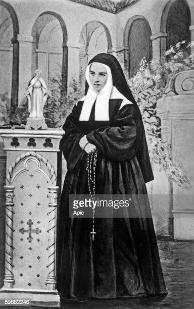 Bernadette Soubirous in Nevers postcard