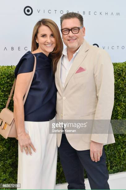 Bernadette Tritton and Mark Tritton Executive Vice President and Chief Merchandising Officer of Target attends the Victoria Beckham for Target Launch...