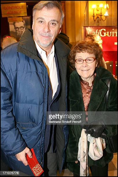 Bernard Alane and mother Annick Alane at Theatre Production Of The Show Audition At Theatre Edouard Vii In Paris
