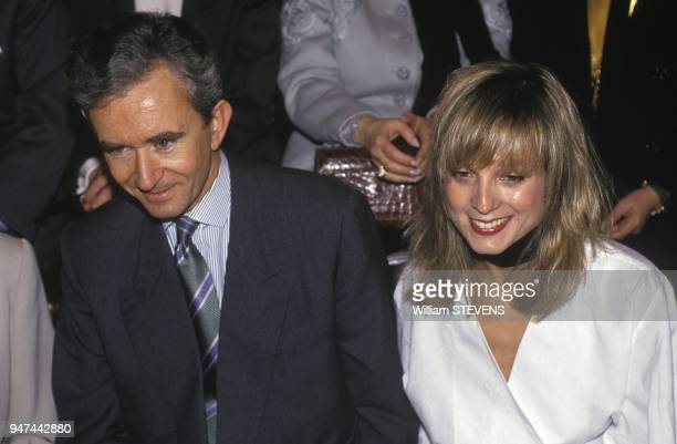 Bernard Arnault And Wife Anne Attend Fashion Show January 1993