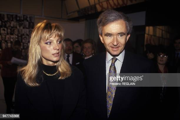 Bernard Arnault And Wife Helene Arrive At TV Studio Paris January 8 1995