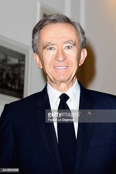 Bernard Arnault attends the Christian Dior Haute Couture Fall/Winter 2016-2017 show as part of Paris Fashion Week at 30, Avenue Montaigne on July 4,...
