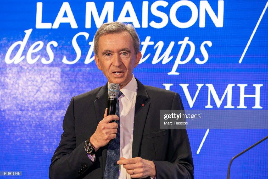 Bernard Arnault, LVMH CEO Inaugurates LVMH Start-up Accelerator In Paris : News Photo