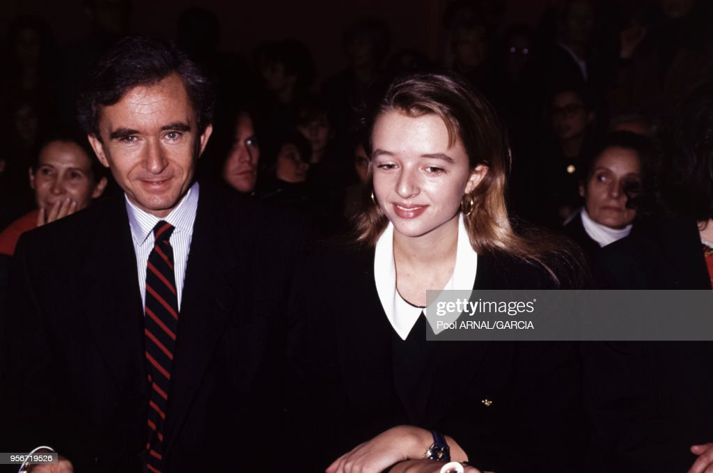 Bernard Arnault et sa fille en 1991 : News Photo