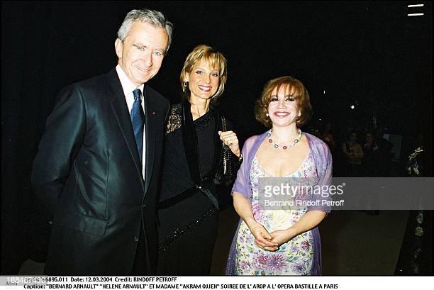 Bernard Arnault 'Helene Arnault' and Madame 'Akram Ojjeh' at L'Arop Gala At L'Opera Bastille In Paris