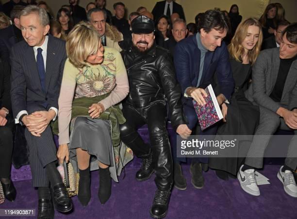 LVMH CEO Bernard Arnault Helene Arnault Peter Marino Antoine Arnault Natalia Vodianova and Alexandre Arnault attend the Dior Haute Couture...