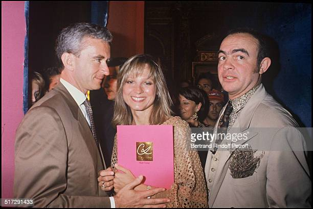 Bernard Arnault his wife Helene and Christian Lacroix Haute Couture fashion show fall winter 19931994 collection in Paris