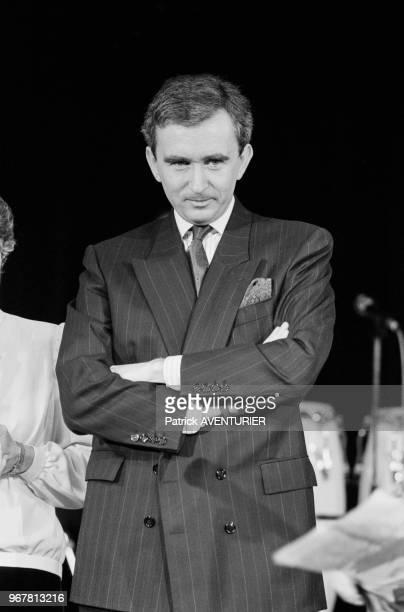 Bernard Arnault lors d'une soirée pour le 80ème anniversaire de la maison Dior au Lido à Paris le 13 février 1987 France