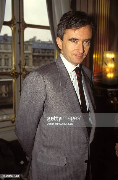 Bernard Arnault LVMH president in Paris France on February 04 1992