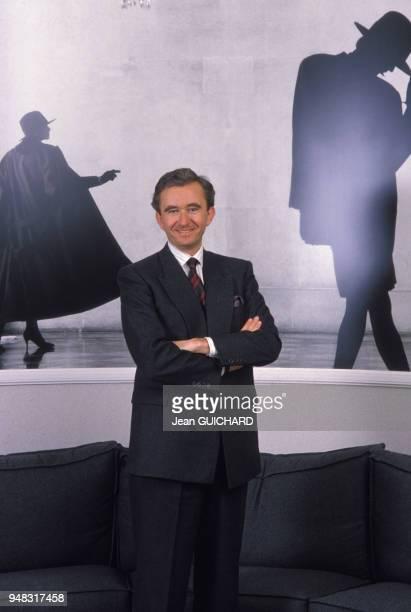 Bernard Arnault président de Dior en mars 1987 à Paris France