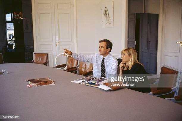 CEO Bernard Arnault with Béatrice BongibaultDhjan the Managing Director of Dior at head office