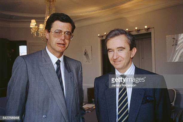CEO Bernard Arnault with the company administrator Pierre Gode in the Dior office