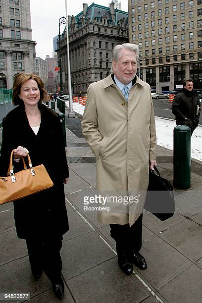 Bernard 'Bernie' Ebbers former CEO of Worldcom Inc arrives at Manhattan Federal Court for a sixth day of deliberations in his criminal fraud trial...