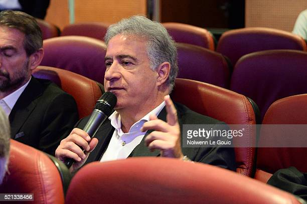 Bernard Caiazzo president of Saint Etienne during the General Meeting of the Football French League at French Football Federation on April 15 2016 in...