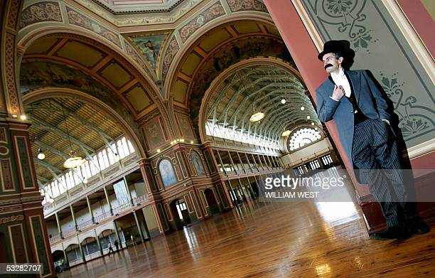 Bernard Caleo inspects the ceiling of the dome in Melbourne's Royal Exhibition Building which has World Heritage status before an open day for the...