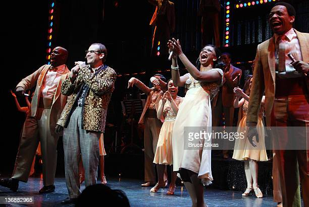 J Bernard Calloway Chad Kimball Montego Glover and Derrick Baskin and the cast of Memphis perform at a special performance of Memphis for Inspire...