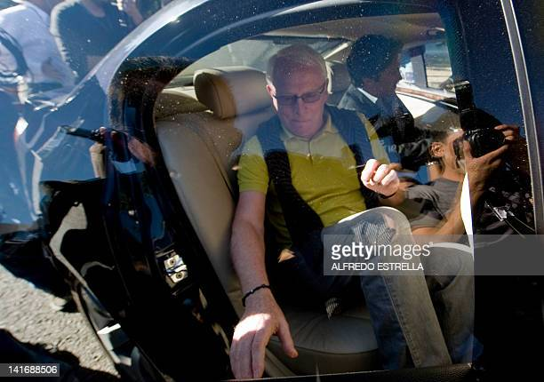 Bernard Cassez father of Florence Cassez gets on a car as he leaves the prison after visiting his daughter in Mexico City on March 21 2012 The first...