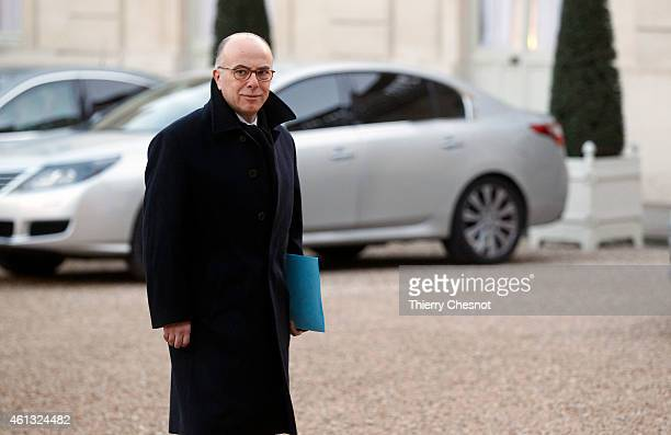Bernard Cazeneuve French Minister of the Interior arrives at the Elysee Palace for a meeting between France's Jewish associations and the French...