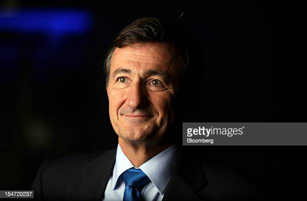 Bernard Charles chief executive officer of Dassault Systemes SA poses for a photograph following a Bloomberg Television interview in London UK on...