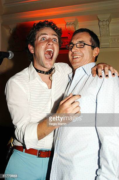 Bernard Curry and Alan Fletcher attend the after party of the Rocky Horror Show by the cast of the Australian TV show Neighbours to raise money for...