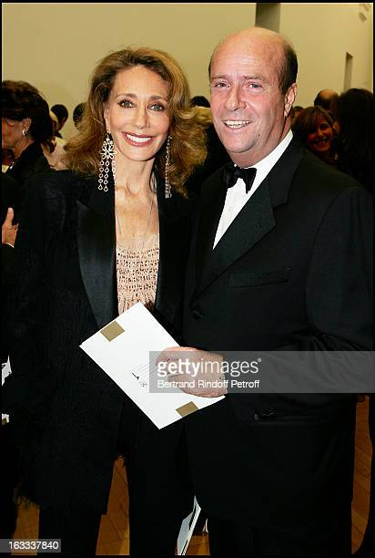 Bernard Danillon and Marisa Berenson at The Scopus Award 2005 Gala Evening Held At The Petit Palais In Paris