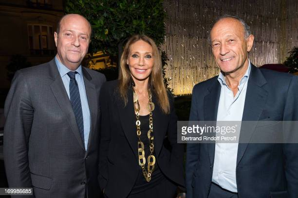 Bernard Danillon de Cazella Marisa Berenson and Thierry Gaubert attend a cocktail party at Hotel Fouquet's Barriere following the premiere of the...