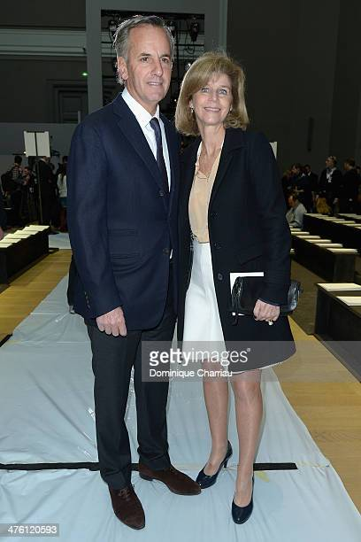 Bernard de la Villardiere and Anne de la Villardiere attend the Chloe show as part of the Paris Fashion Week Womenswear Fall/Winter 20142015 on March...