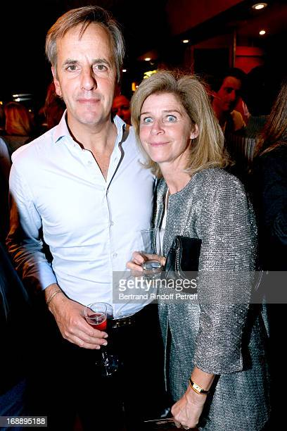 Bernard de la Villardiere and his wife Anne attend 'Ninon Lenclos ou La Liberte' Theater Play on May 15 2013 in Paris France