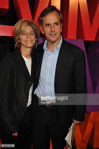 Bernard de La Villardiere and his Wife Anne attend the Femmes Magazine Launch Party at the Mini Palais on May 21 2008 in Paris France