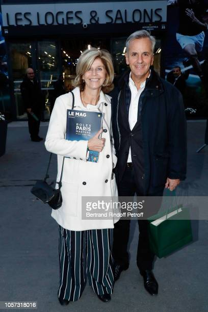 Bernard de la Villardiere and his wife Anne de la Villardiere attend Rolex Paris Master during day seven of the Rolex Paris Masters on November 4...